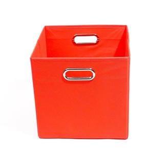 Bold Solid Red Folding Storage Bin