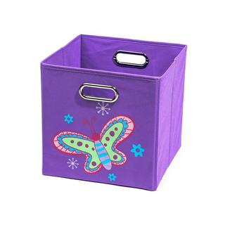 Nuby Purple Butterfly Folding Storage Bin