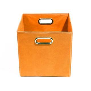 Bold Solid Orange Folding Storage Bin