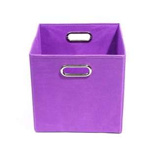 Color Pop Solid Purple Folding Storage Bin