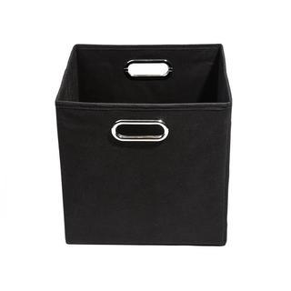 Smarty Pants Solid Black Folding Storage Bin