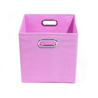 Rose Solid Pink Folding Storage Bin