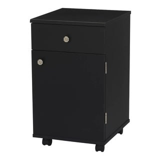 Arrow 'Suzi' Black Crafts & Sewing Machine Table Four Drawer Furniture Storage Cabinet
