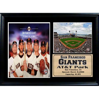 MLB 2014 San Francisco Giants Photo Stat Frame