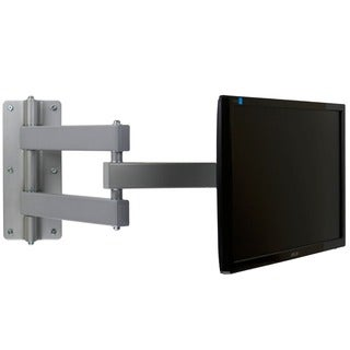 Mount-It! Tilt/ Swivel, Heavy Duty, Silver Full Motion Wall Mount for 37-inch LCD/ LED Displays with Single Stud Installation