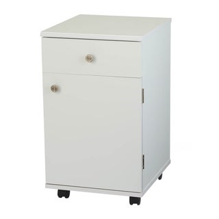 Arrow 'Suzi' White Crafts & Sewing Machine Table Four Drawer Furniture Storage Cabinet