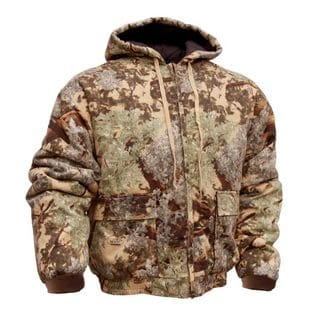 King's Camo Insulated Cotton Duck Hooded Hunting Jacket