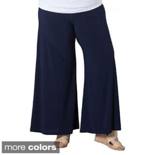 Sealed With a Kiss Women's Plus Size Palazzo Pants https://ak1.ostkcdn.com/images/products/9104038/Sealed-With-a-Kiss-Womens-Plus-Size-Palazzo-Pants-P16291147A.jpg?impolicy=medium