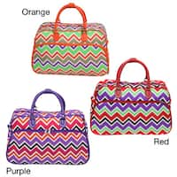 World Traveler New Wave Chevron Zig-zag 21-inch Carry-on Duffle Bag