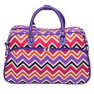 World Traveler New Wave Chevron Zig-zag 21-inch Carry-on Duffle Bag