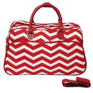 World Traveler Designer Chevron Zig-zag 21-inch Carry-on Duffle Bag (Option: Orange)|https://ak1.ostkcdn.com/images/products/9104080/P16291169.jpg?impolicy=medium