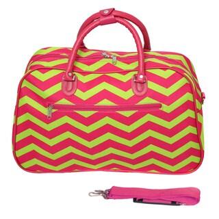 World Traveler Designer Chevron Zig-zag 21-inch Carry-on Duffle Bag