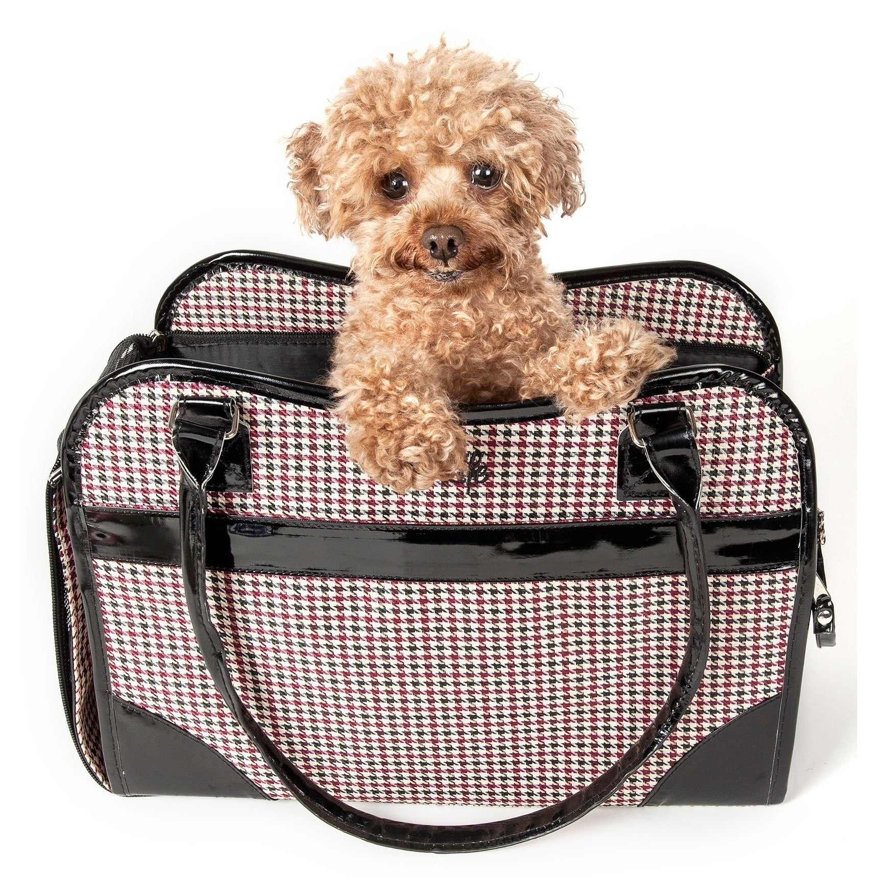 Petlife Houndstooth Exquisite Handbag Fashion Pet Carrier...