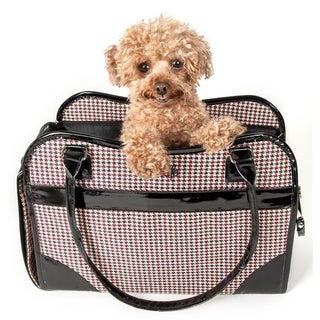 Pet Life Houndstooth Exquisite Handbag Fashion Pet Carrier - One size