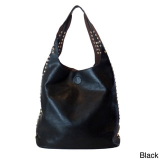 'Talisha' 2-in-1 Studded Hobo Tote