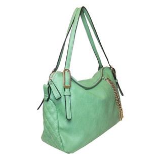 Lithyc 'Madsen' Goldtone Chain Satchel Bag