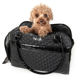 Pet Life Black Exquisite Handbag Fashion Pet Carrier