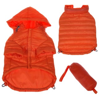 Pet Life Adjustable 'Sporty Avalanche' Orange Pet Coat (Option: X-Small)