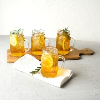 Link to Personalized Home State Old Fashioned Drinking Jars (Set of 4) Similar Items in Glasses & Barware
