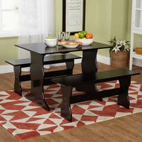Simple Living Leah Black 3-piece Dining Table Set