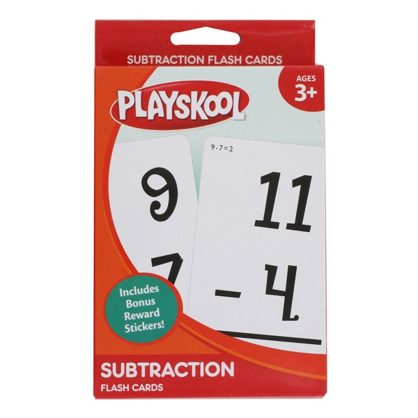 Playskool Ages 3+ 'Subtraction' Flash Cards (36 Cards)