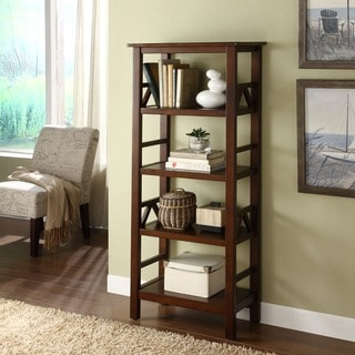 Linon Tiziano 4 Shelf Bookcase Aged Cherry