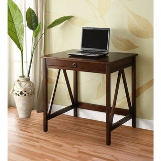 Linon Tiziano Laptop Desk Aged Cherry