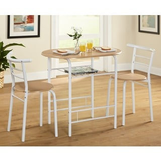 Simple Living Chloe 2-tone 3-piece Bistro Set  sc 1 st  Overstock & Oval Kitchen \u0026 Dining Room Sets For Less | Overstock