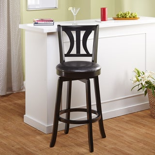 Simple Living Anderson 29-inch Black Swivel Stool