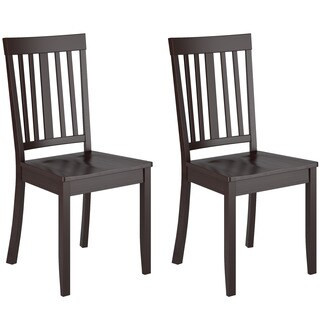 CorLiving Cappuccino Stained Dining Chairs (Set of 2)