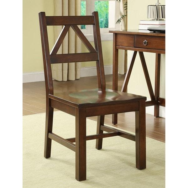 The Gray Barn Pitchfork Aged Cherry Desk Chair