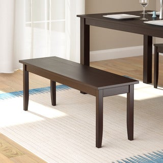 CorLiving Atwood Cappuccino Stained Dining Bench
