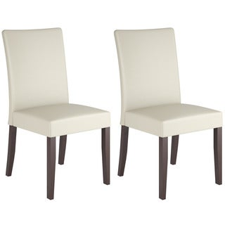 CorLiving Atwood Cream Leatherette Dining Chairs (Set of 2)