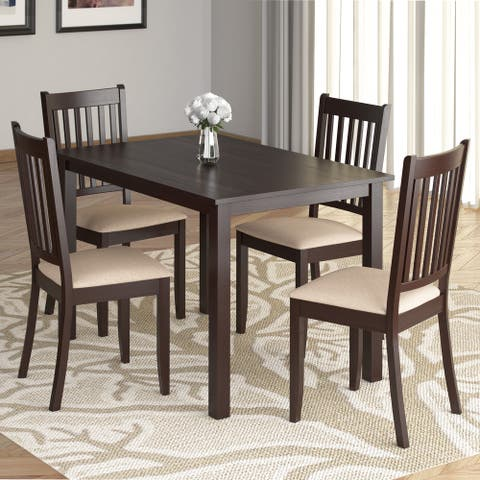 Atwood 43in Wide Cappuccino Stained Dining Table