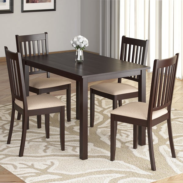 Corliving atwood 43in wide cappuccino stained dining table for 32 wide dining table