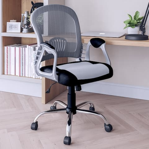 CorLiving Workspace Mesh Back Office Chair with Chrome Frame