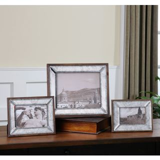 Uttermost Daria Antiqued Pinewood Photo Frames (Set of 3)