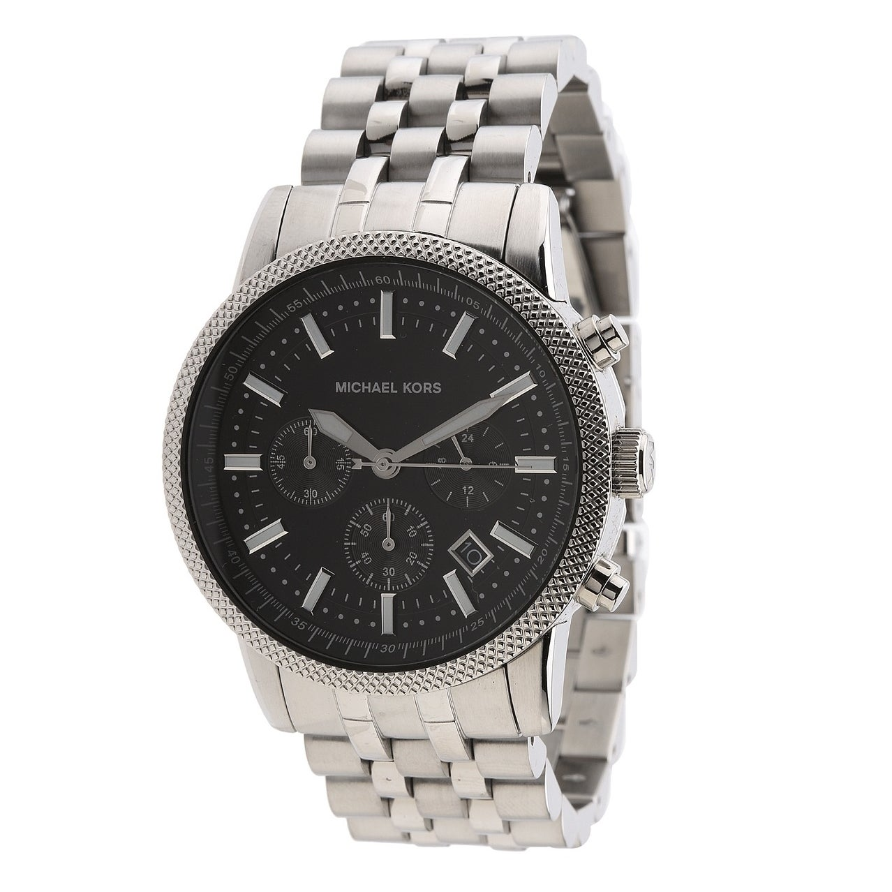 Michael Kors Mens   Scout Chronograph Stainless Steel Watch Black