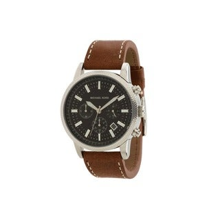 Michael Kors Men's MK8309 Scout Brown Leather Watch