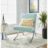 Clay Alder Home Rialto Aqua Bonded Leather Chair