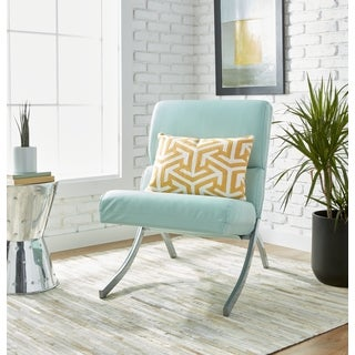Clay Alder Home Rialto Aqua Bonded Leather Chair