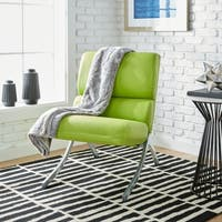 Clay Alder Home Rialto Lime Green Bonded Leather Chair