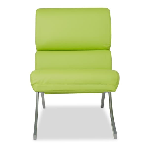Rialto Lime Green Bonded Leather Chair   Free Shipping Today    Overstock.com   16291403