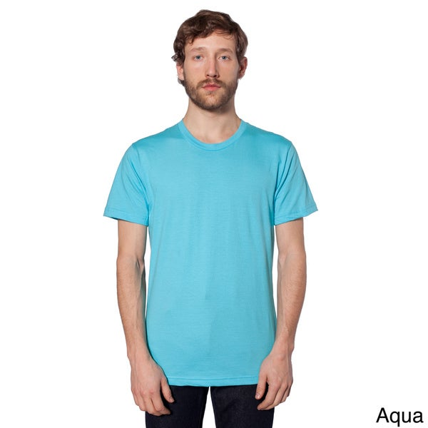 american apparel unisex fine jersey short sleeve t shirt