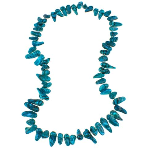 Pearlz Ocean Blue Biwa Freshwater Pearl Necklace for Womens