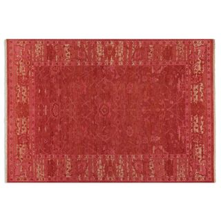 Uttermost Hand-knotted Antalya Rose Wool Area Rug (6' x 9')