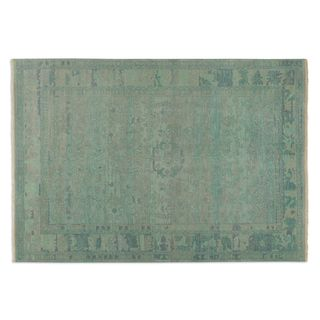 Uttermost Hand-knotted Ismir Green Wool Area Rug (6' x 9')