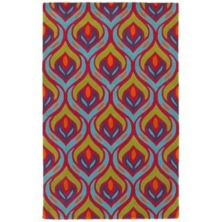 LNR Home Vibrance Multi-colored Abstract Area Rug (7'9 x 9'9)