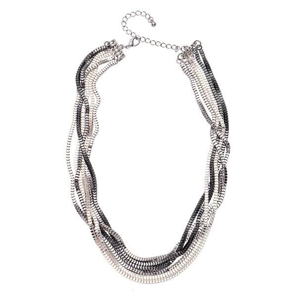 "Alexa Starr 6-row ""Scale"" Box Chain Necklace"