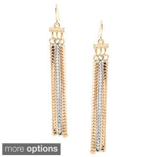 Alexa Starr Two-tone Snake Chain Tassel Earrings